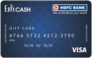 EbixCASH hdfc gift card
